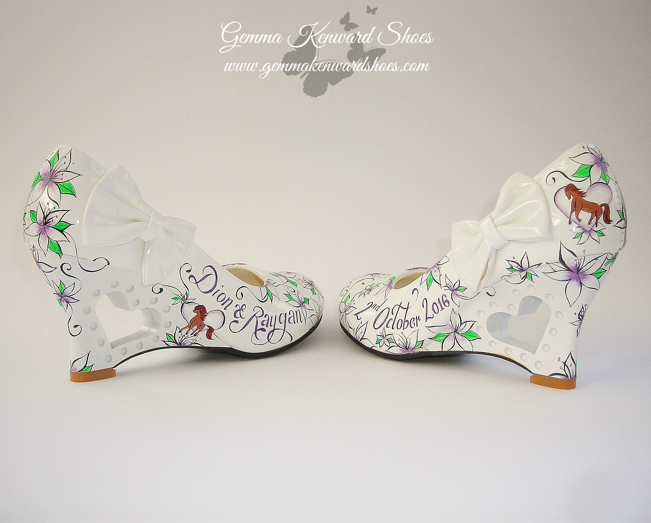 Wedding Wedged heel wedding shoes