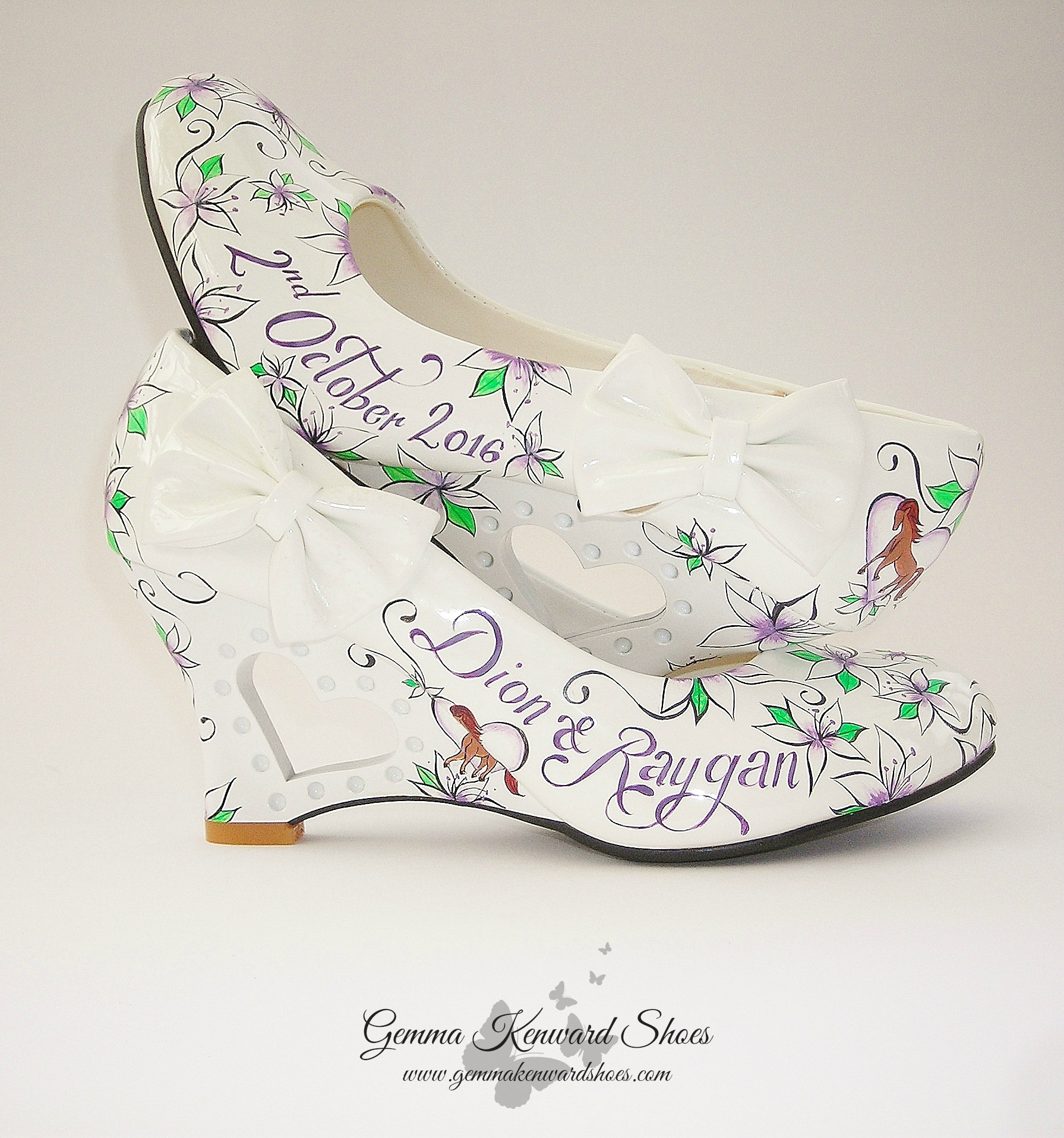 Horse wedding shoes custom painted