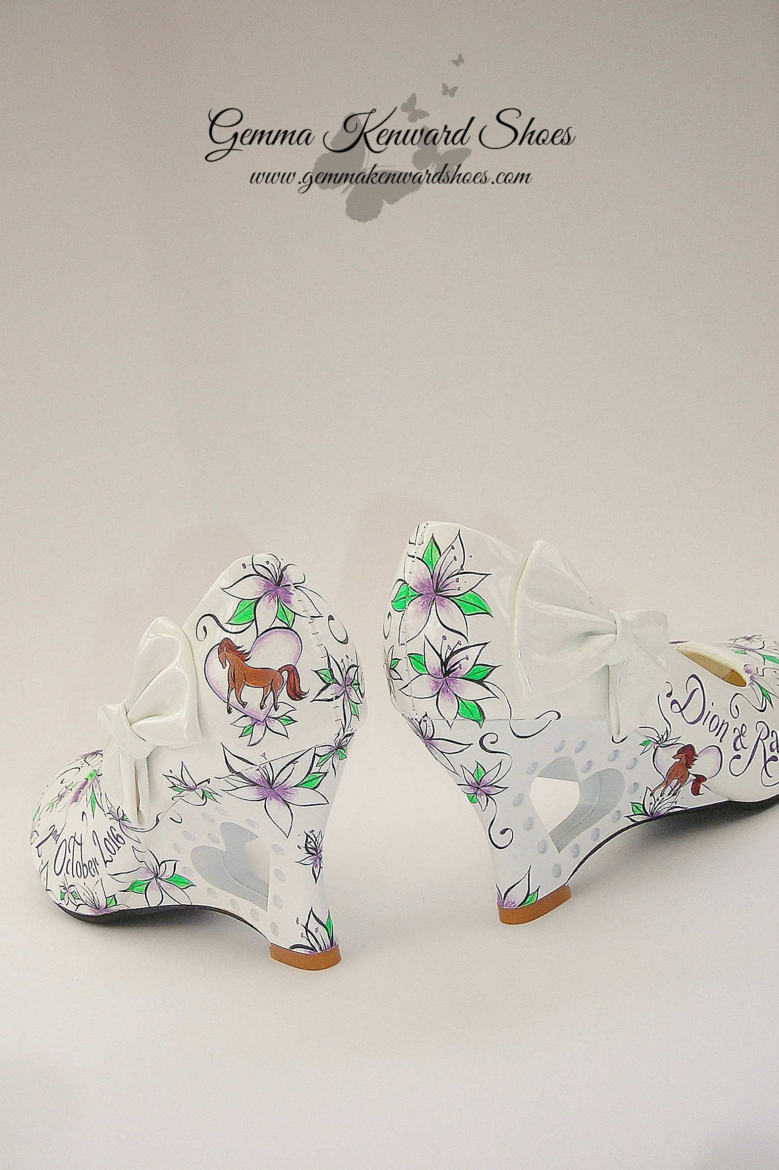 Brides wedges for a horsey wedding