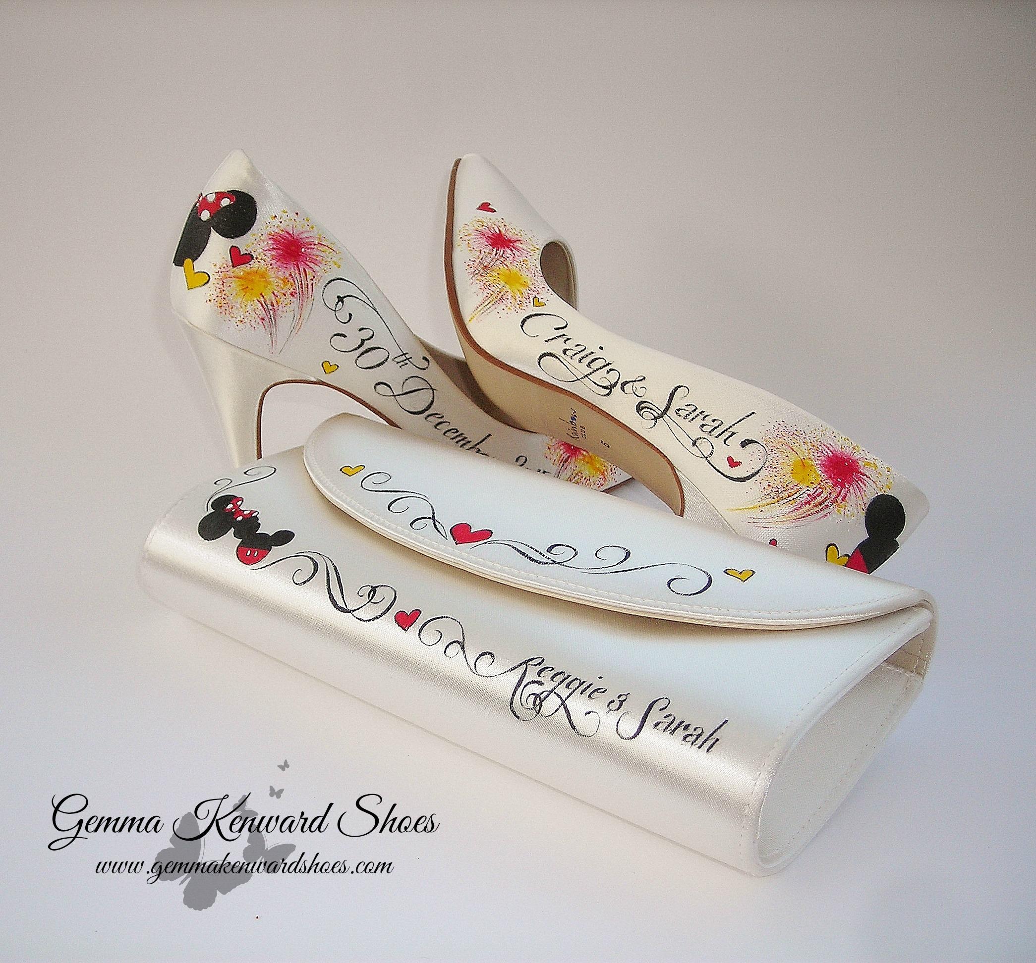 Personlised Disney wedding shoes