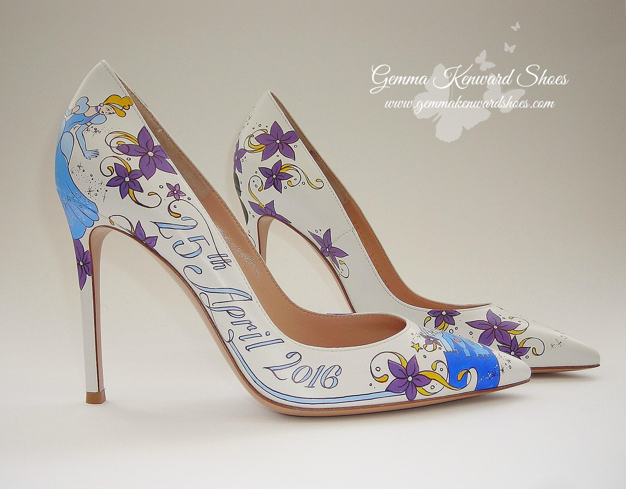 Disney Fairytale painted bridal shoes