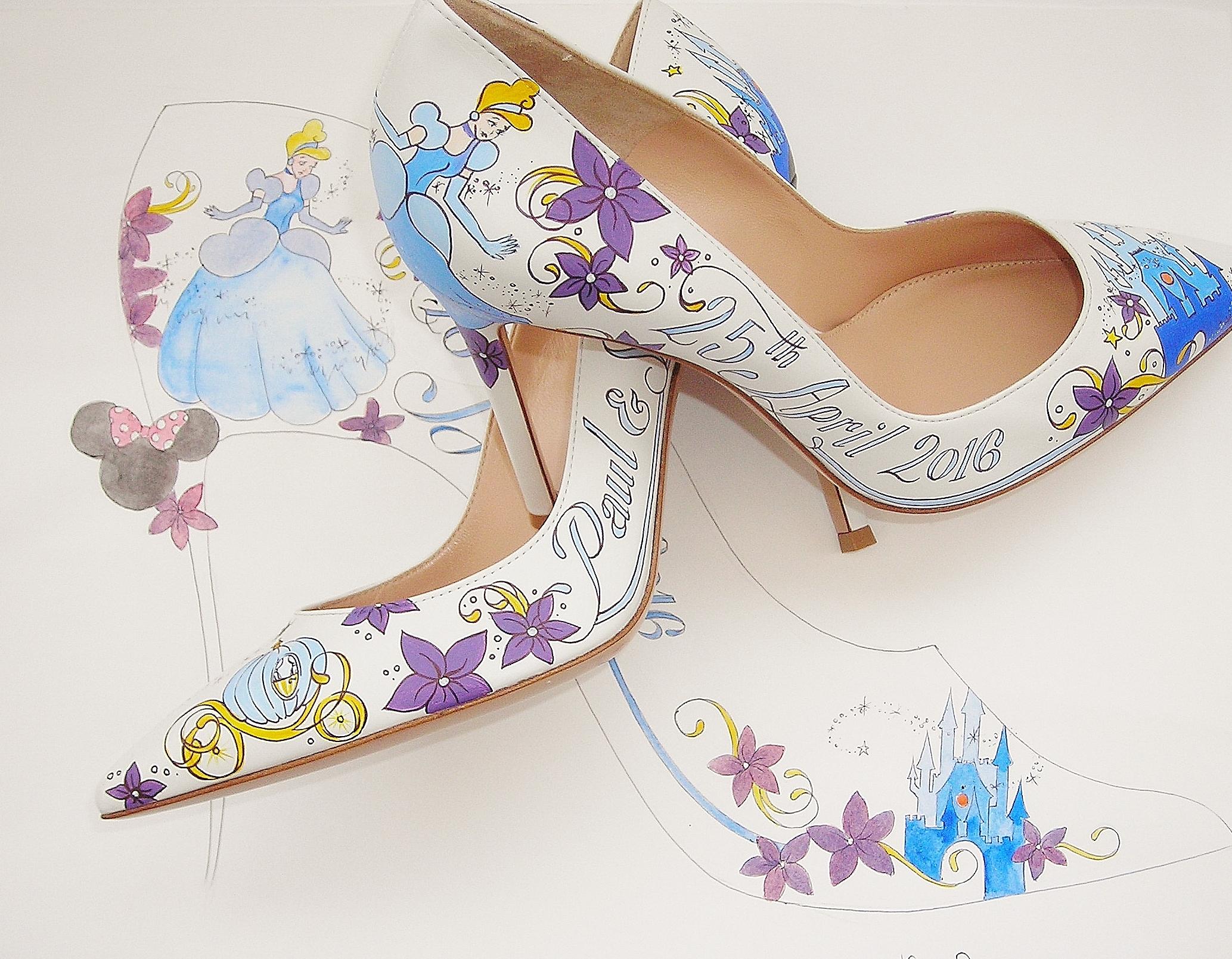 Disney Cinderella wedding shoes