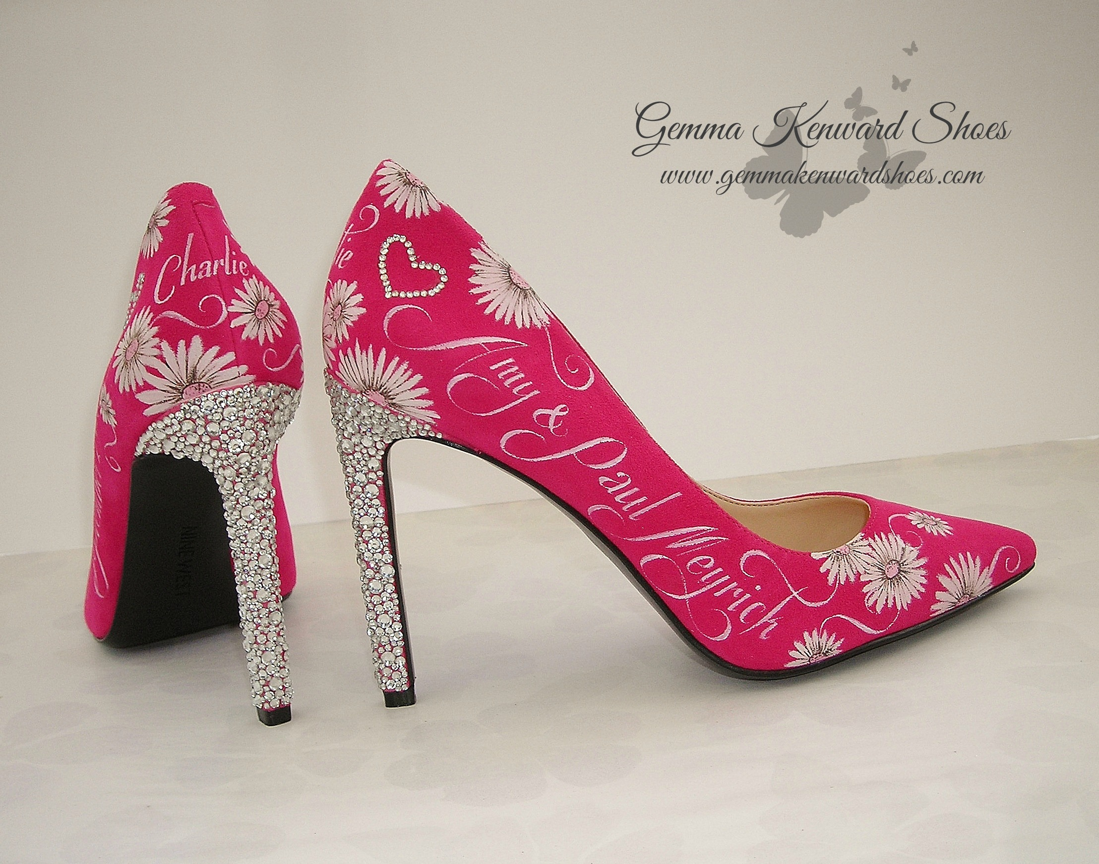 Swarovski diamond wedding shoes