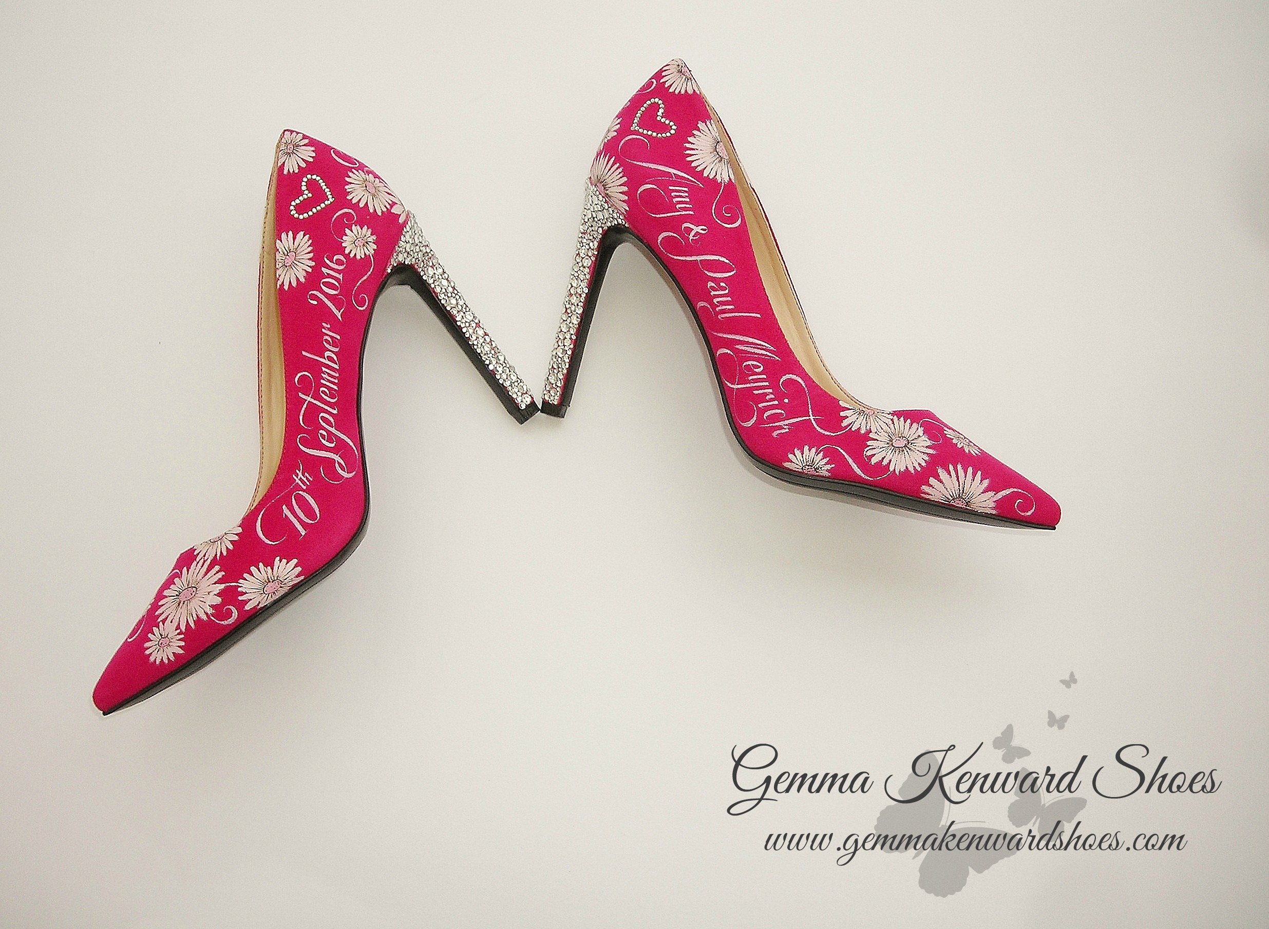 Pink court shoes for a wedding
