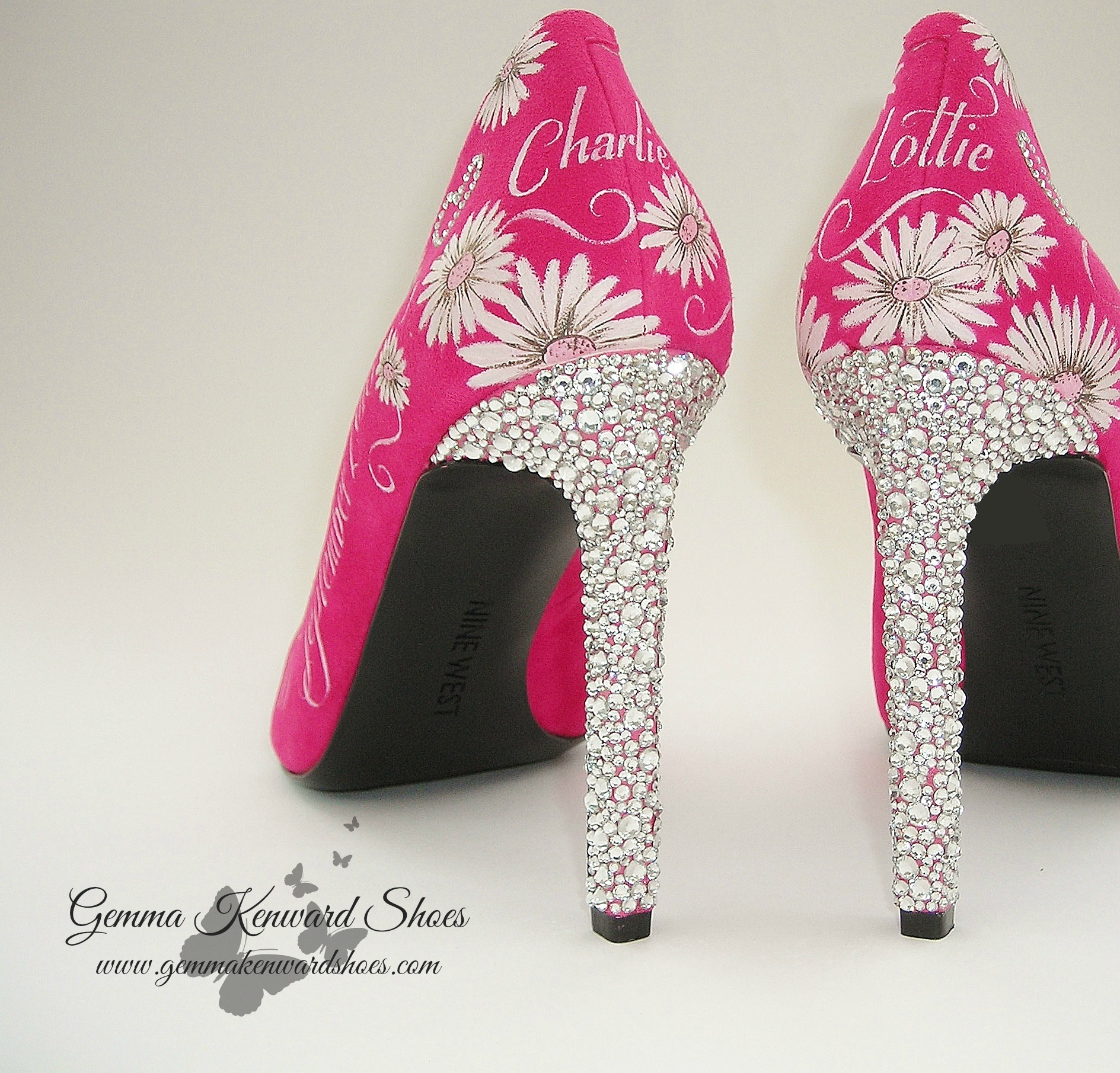 Swarovski diamante bridal shoes