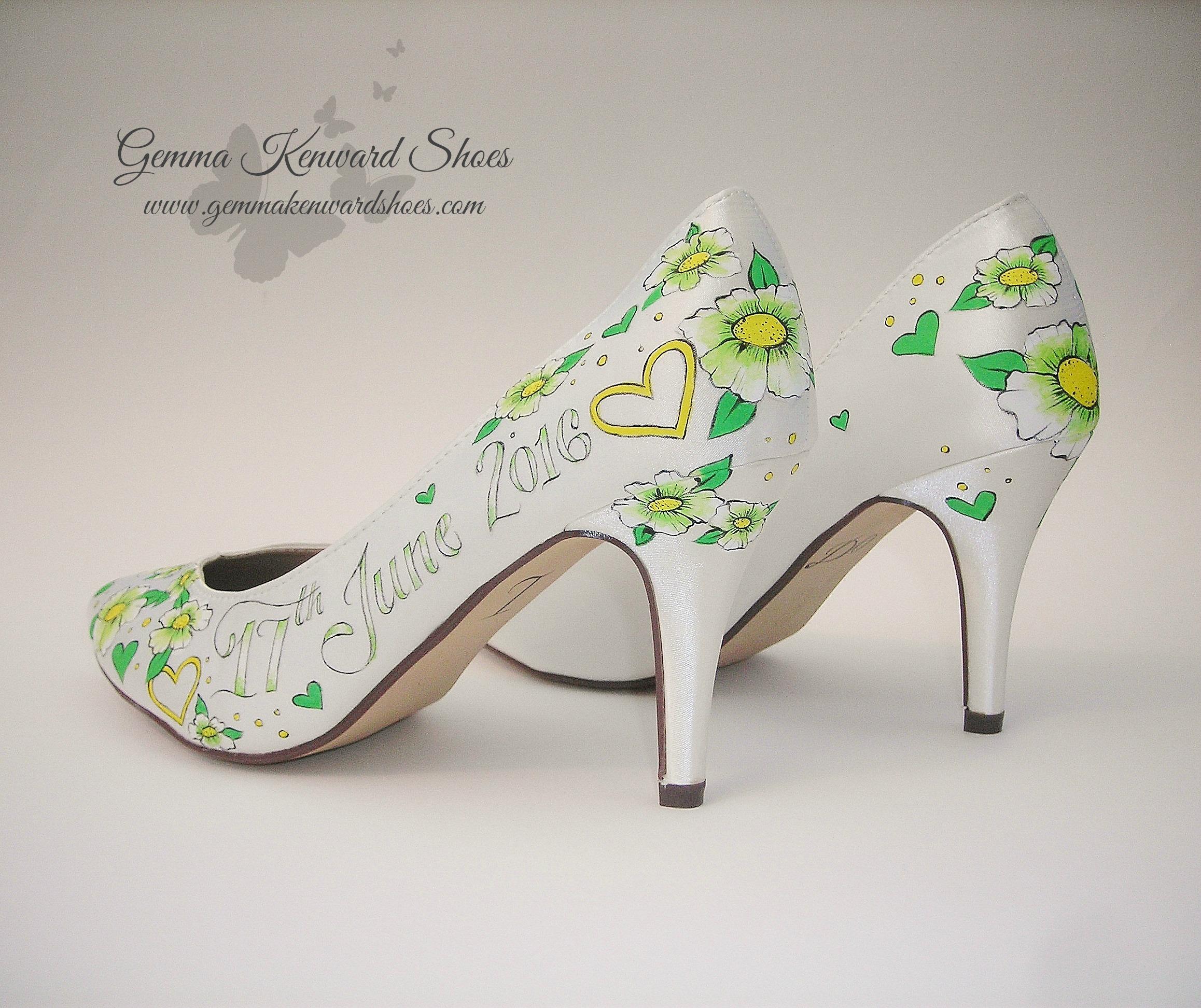 Green bridal shoes.JPG