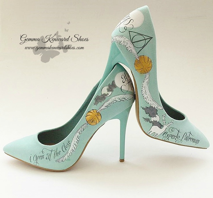 Personalised Hand painted Harry Potter Wedding Shoes