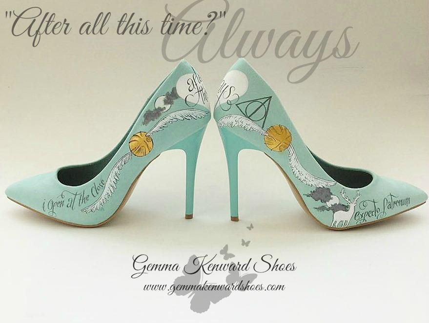 Mint green harry potter wedding shoes