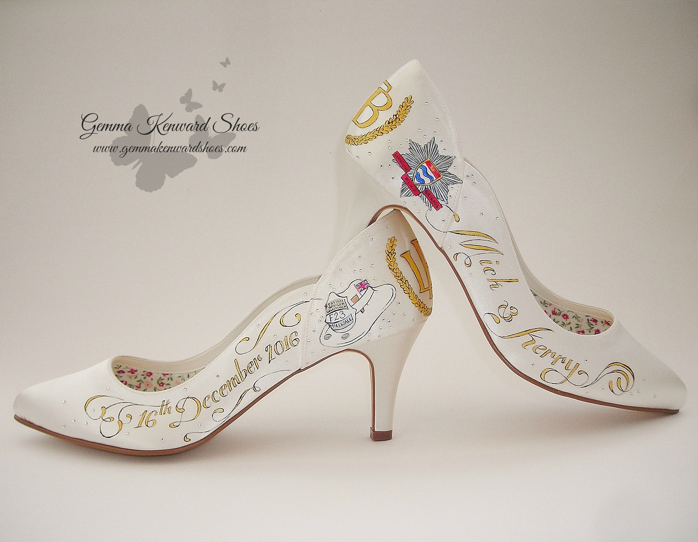 Hand painted firemens wedding shoes.JPG