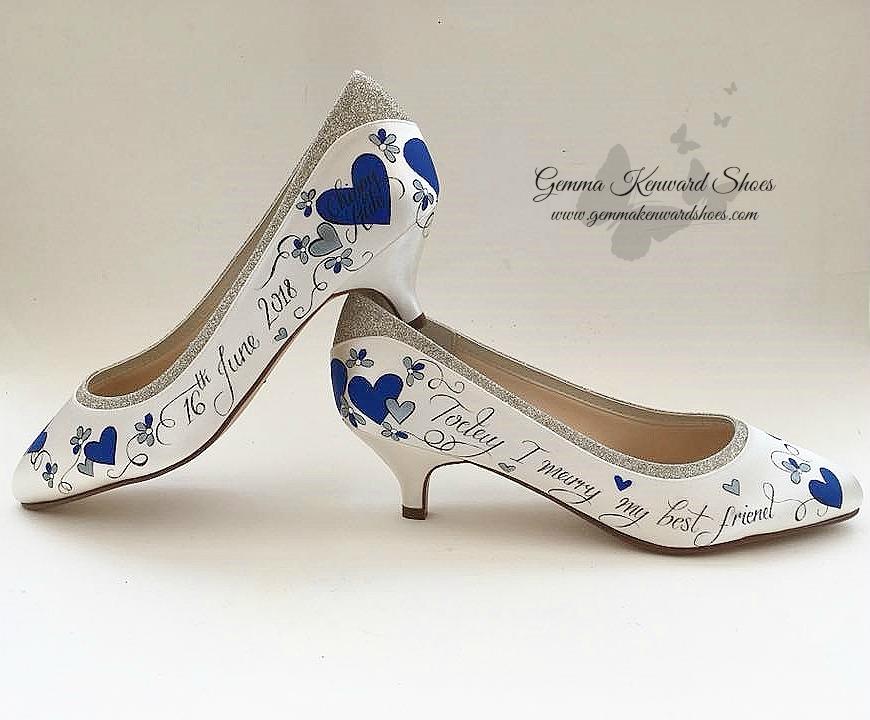 Hand painted personalised royal blue wedding shoes.jpg