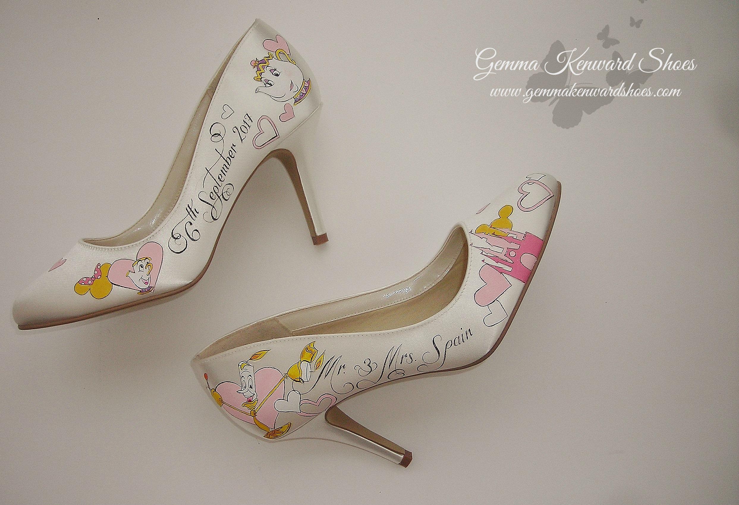 Miss Potts and chip wedding disney shoes.JPG