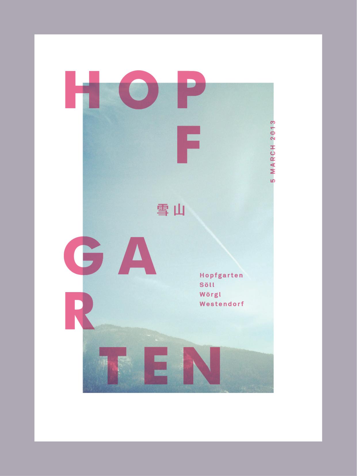 HOPGARTEN SERIES – 2013