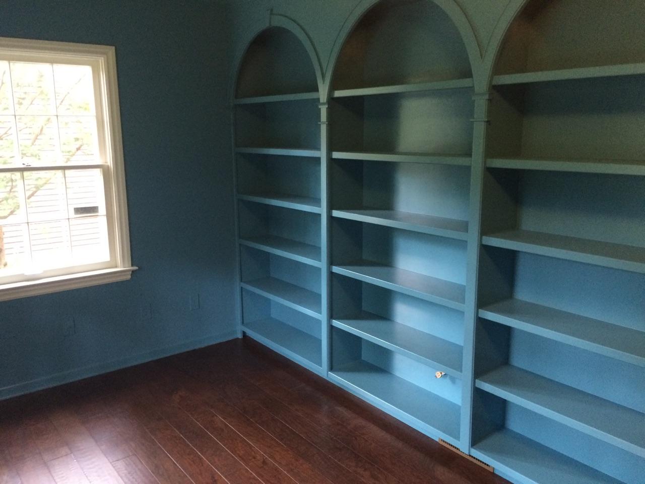 Custom built-in bookshelves
