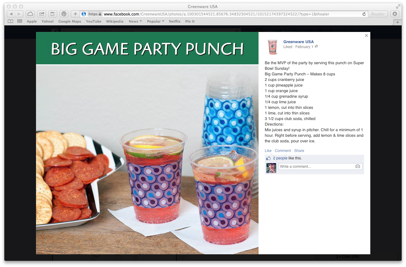 Super Bowl Fruit Punch Drink Recipe (click to enlarge post image)