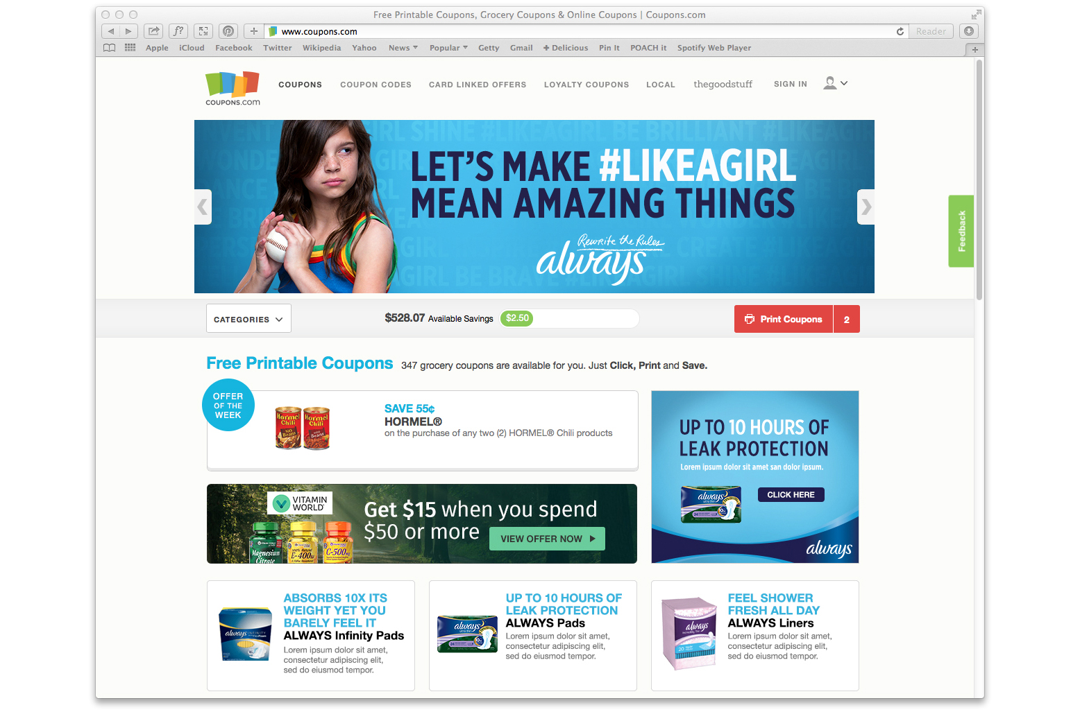 Coupons.com Takeover - Homepage