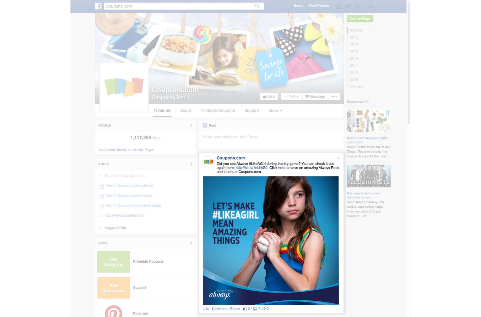 Coupons.com Facebook Post