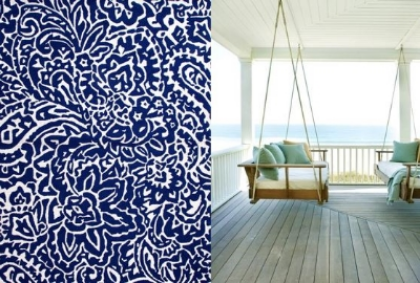 Navy and White always a classic. Indoor Outdoor Rug design