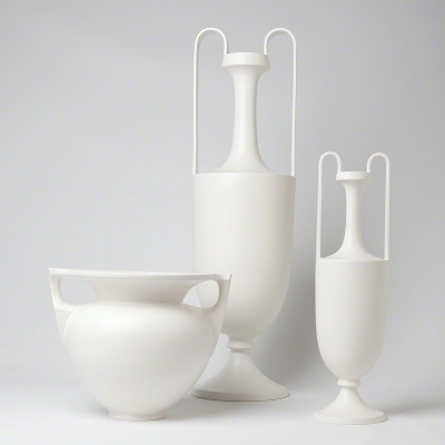 A modern twist to a classic shape, amphoras were used as early as the Bronze Age.