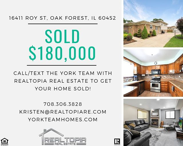 ❄️ It may be cold outside but this market is still hot! 🔥 Another listing SOLD by The York Team with Realtopia Real Estate! 🏡 . . #realestate #realtor #sold #buy #sell #realtopia #client #chicago #oakforest #house #home #money #business #job #entrepreneur #weekend #weekendvibes #sunday