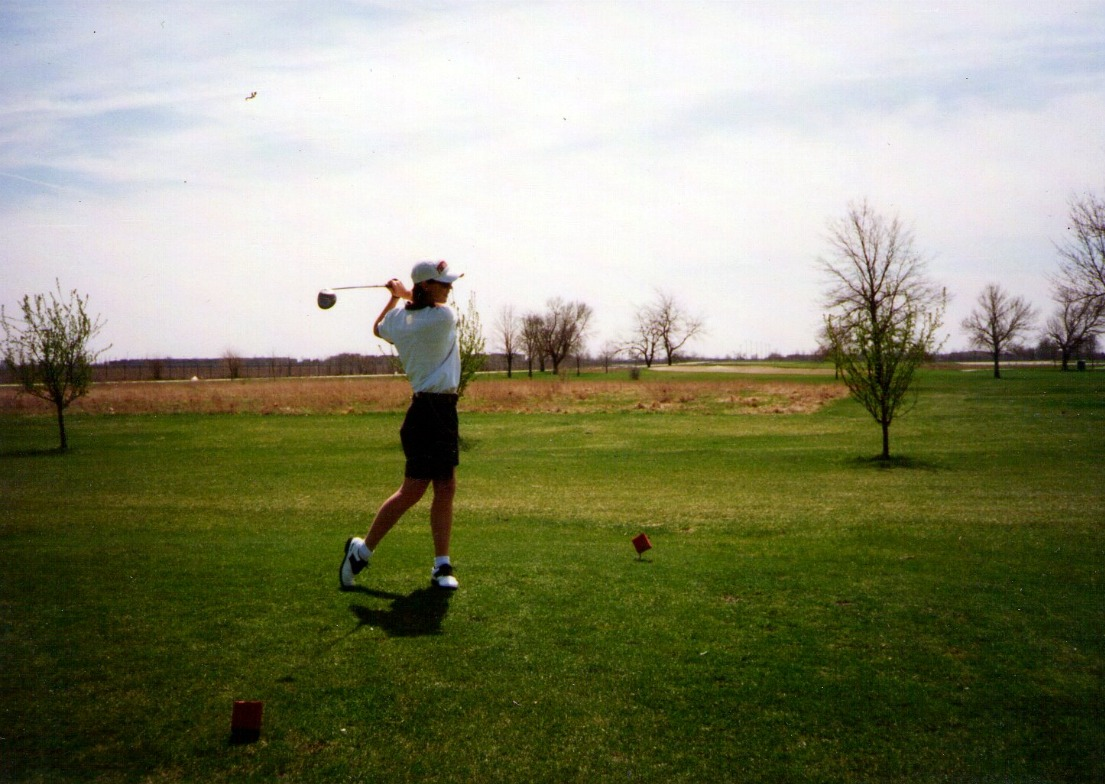 college golf shot