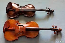 Violin top, Viola bottom.