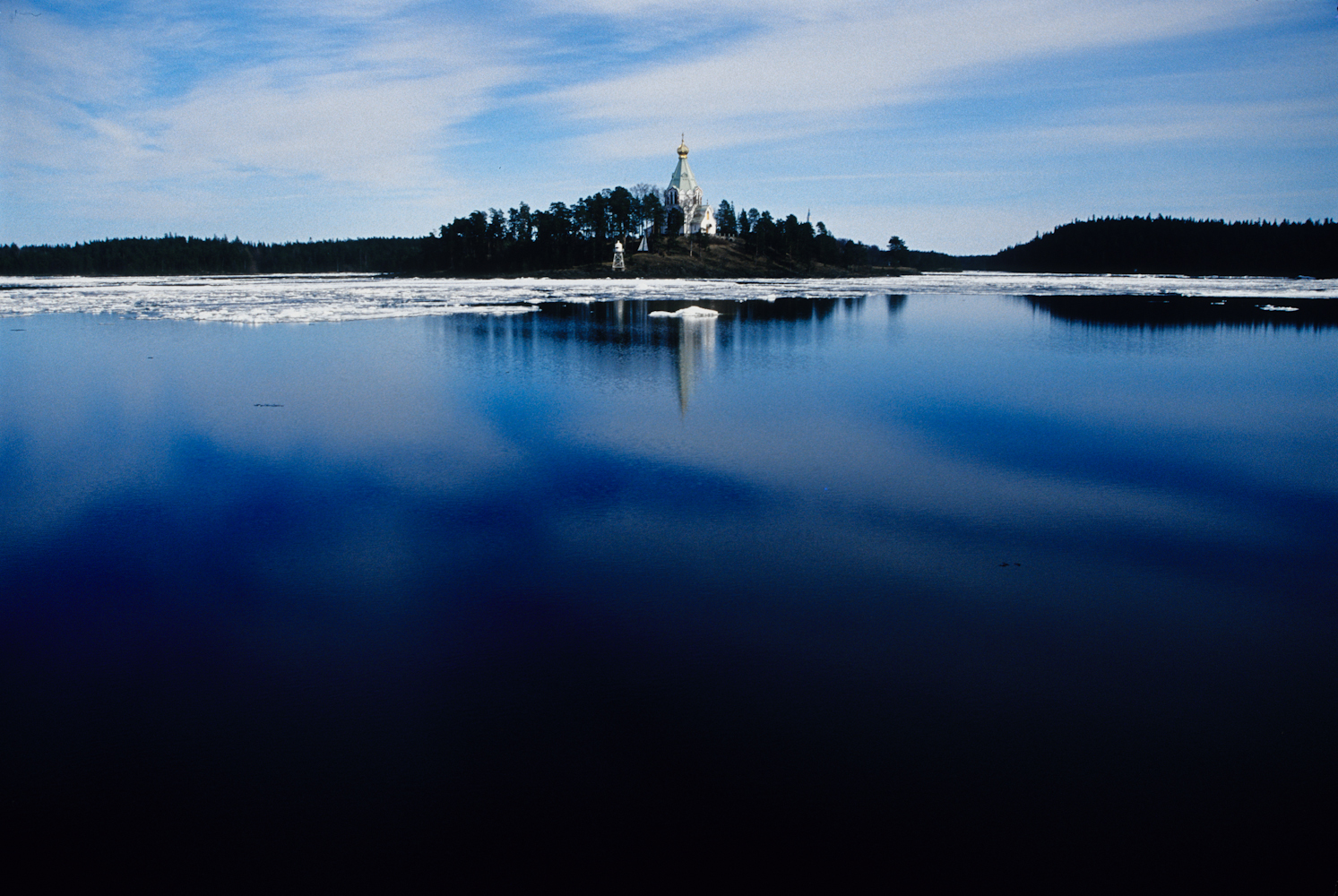 Nikolsky Island, part of the Valaam Monastery located on an island on Lake Ladoga in Northern Russia.