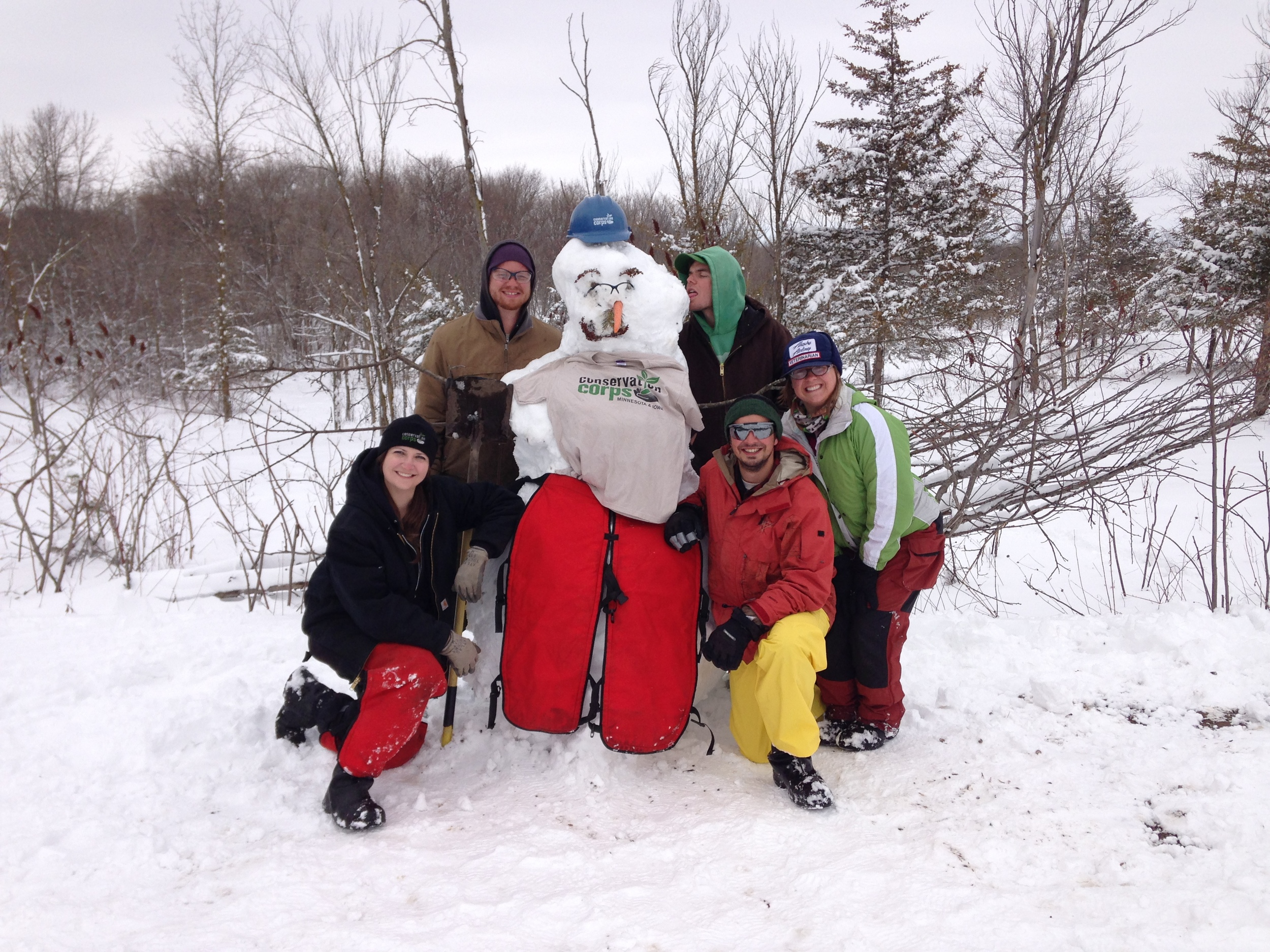 When life gives you snow, you make a snowman and have fun with it.