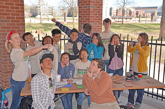 Two Youth Outdoors crews led education efforts at the Harriet Island cleanup site during the Saint Paul Citywide Cleanup on April 18.