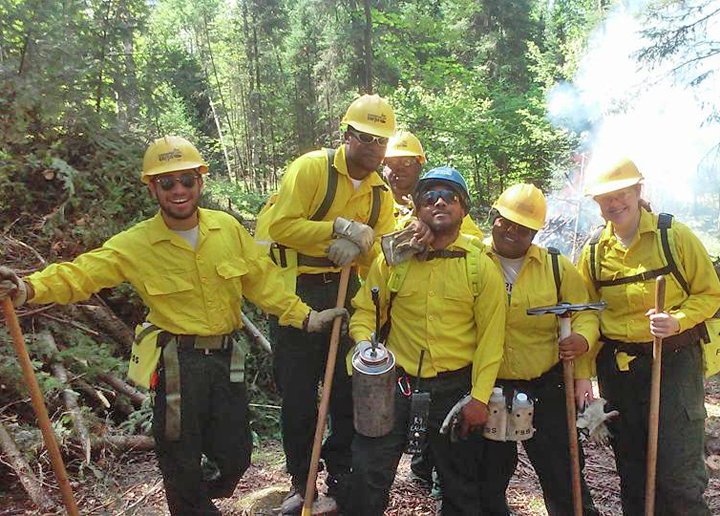 Ely crew, from left: Jalil Cantarero, Devonta Canady, Jacoby Smith, Rashad Washington, Daysha Henderson, Taylor Lockwood.