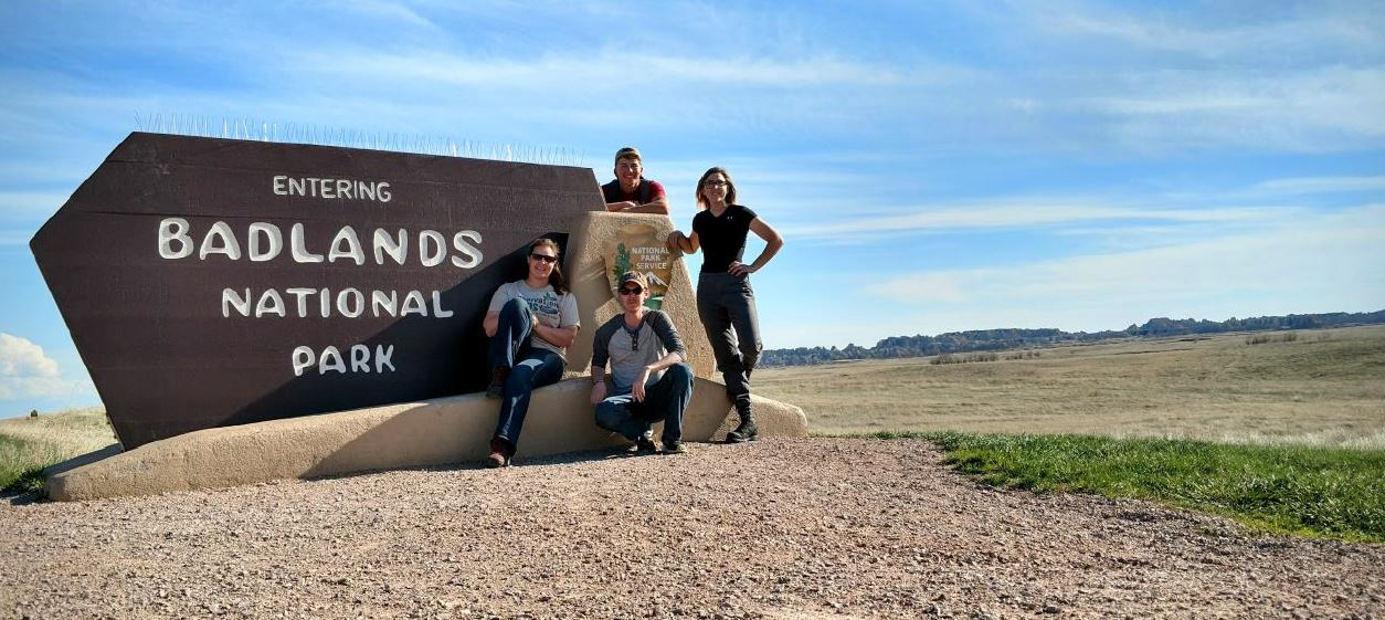 The Rivers crew at Badlands National Park