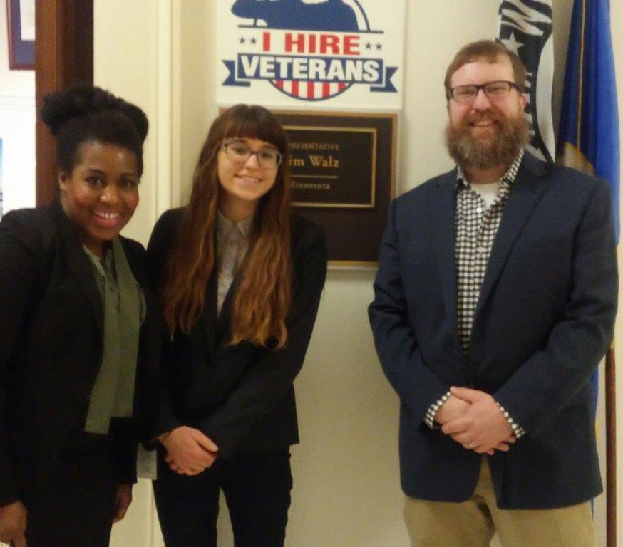 VISITING LEGISLATORS: Staff enjoyed meeting with Alison Titus, Legislative Assistant on Agriculture to Minnesota U.S. House Representative Tim Walz.