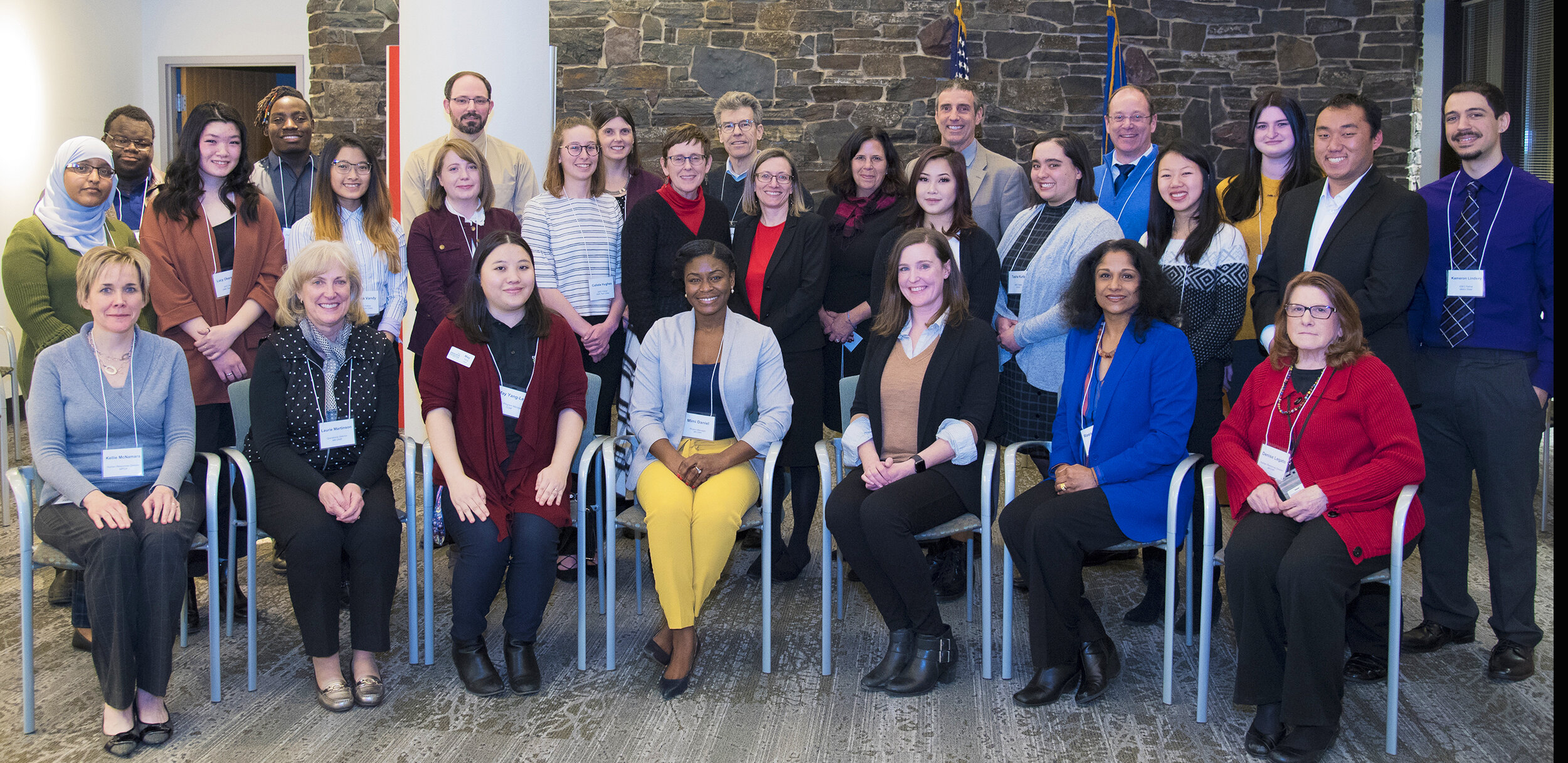 The first cohort of the Increasing Diversity in Environmental Careers (IDEC) program included 16 college students who posed during a visit with commissioners from the Minnesota Department of Natural Resources, Minnesota Pollution Control Agency, and Board of Water & Soil Resources.