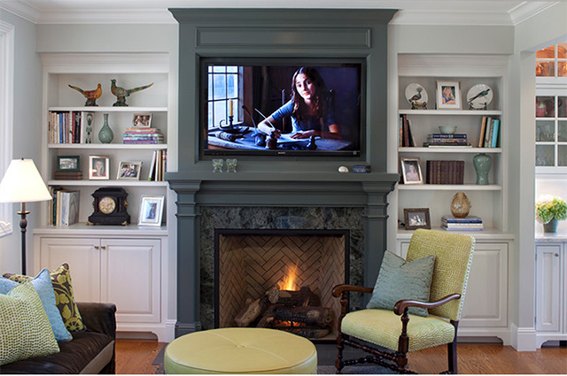 Project in Tiburon - traditional - family room - Julie Williams Design.jpg