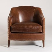 Vail Leather Barrel Back Chair Edit Design House