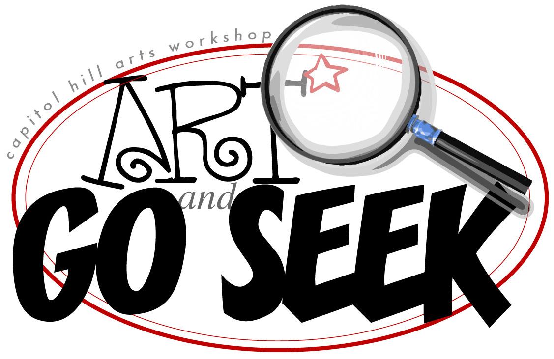 Capitol Hill Arts Workshop Art and Go Seek Logo