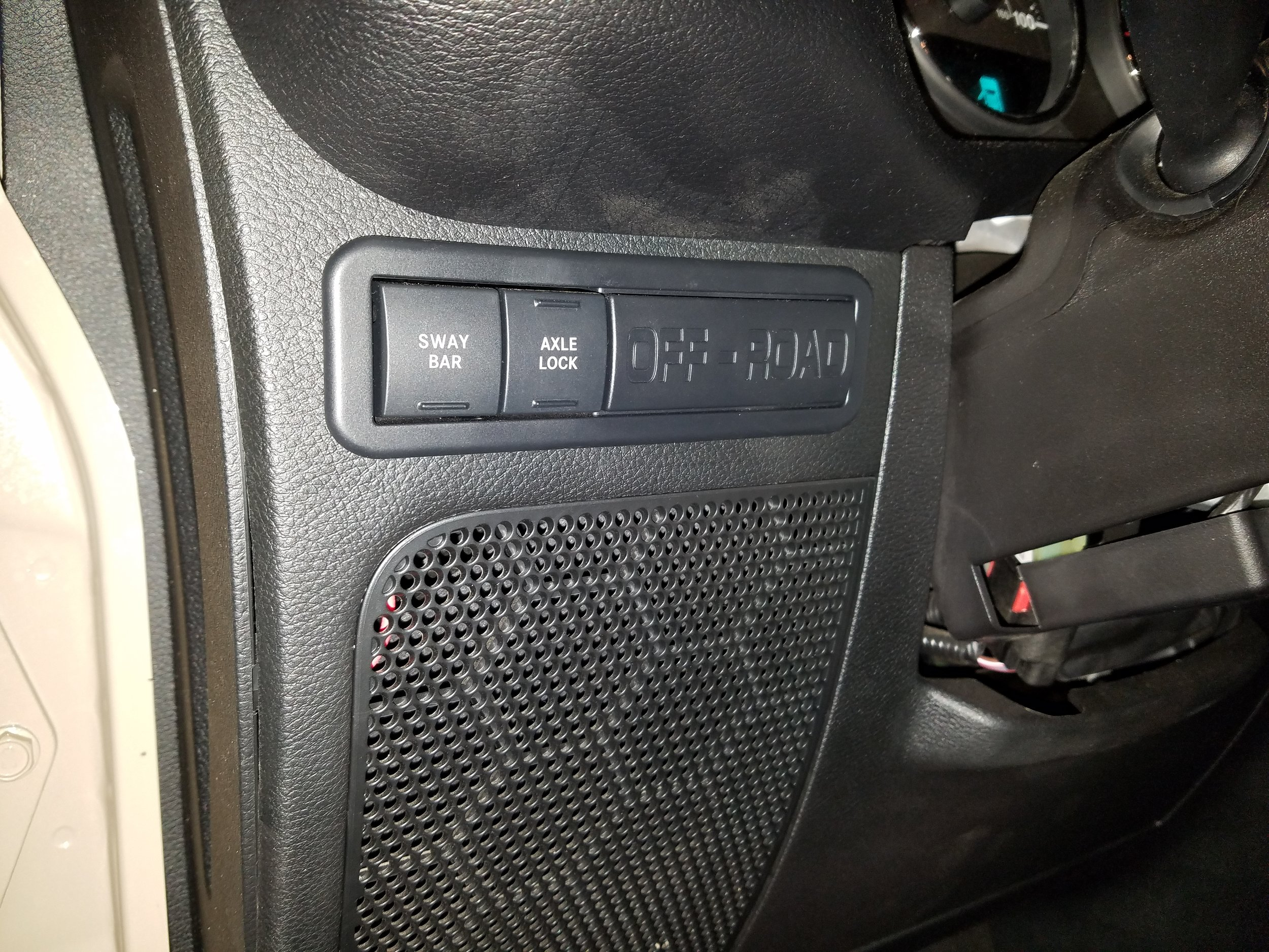 """Stock Rubicon switch panel with wasted """"OFFROAD"""" space"""