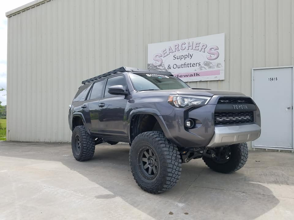 "2014 Toyota 4 runner - lifted with 6"" Fabtech lift (custom KDSS parts)35""BFG KM3 tires"