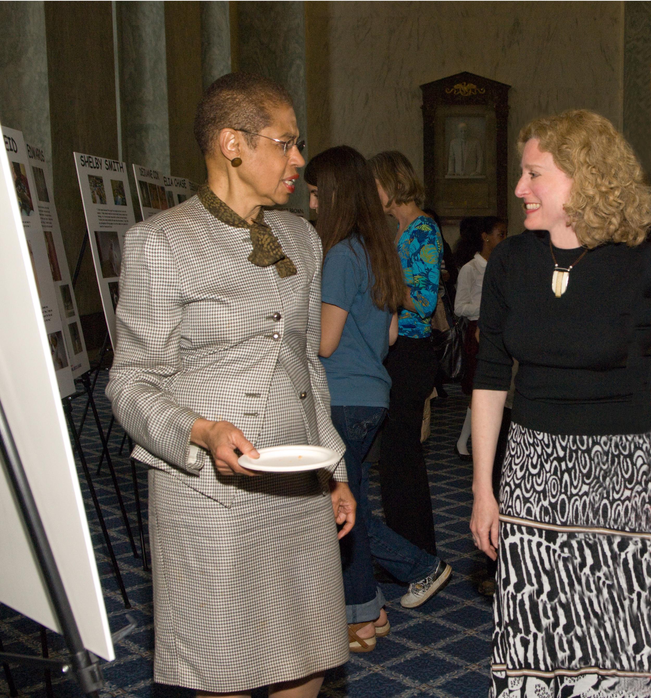 Congresswoman Eleanor Holmes Norton and Photographer Joanne Miller.