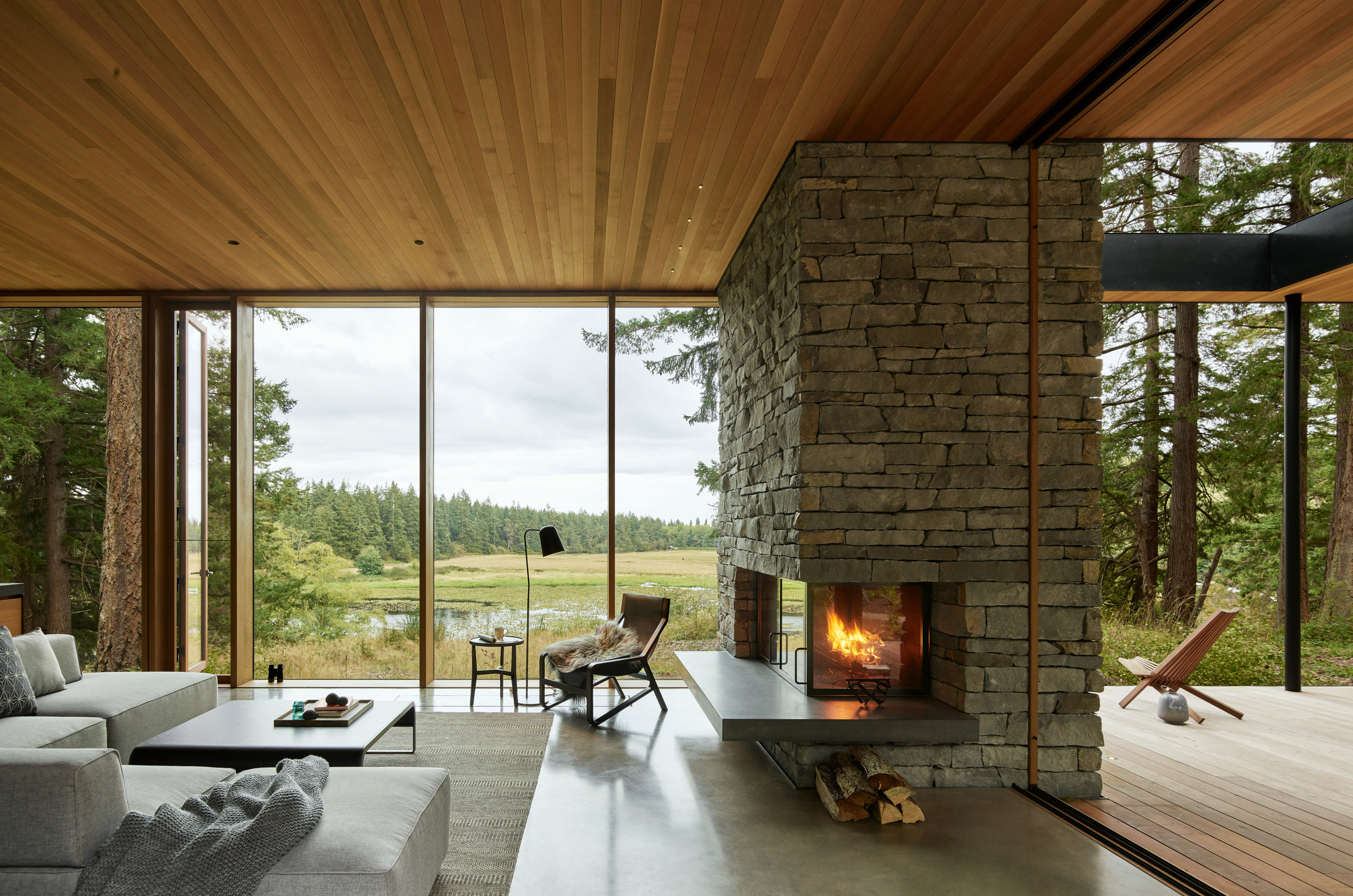 Whidbey Farmhouse // Architecture:  MW Works   New residential construction consisting of several structures, located on Whidbey Island. (photo: Kevin Scott)