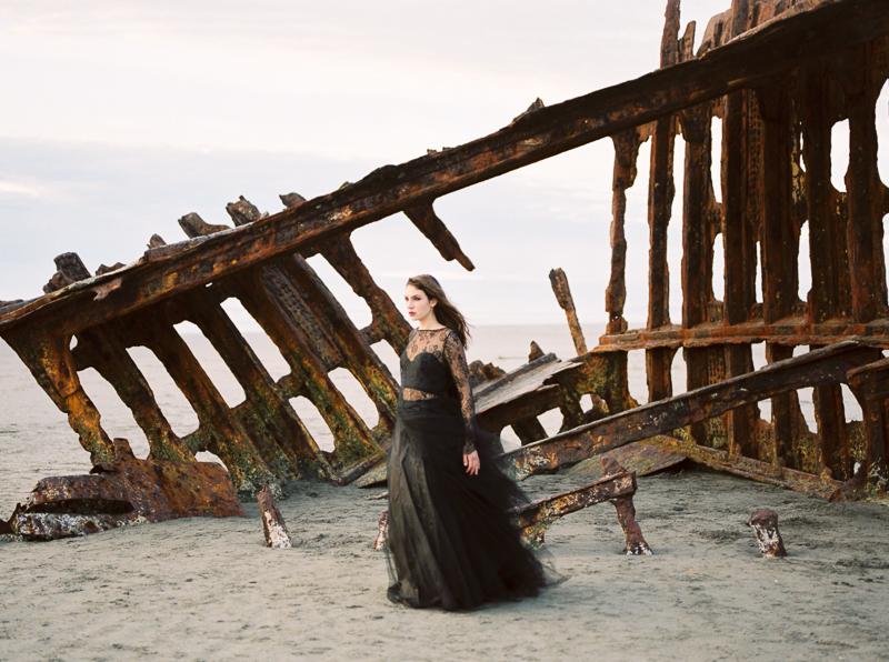 Elizabeth Dye Wedding Gown and Shipwreck