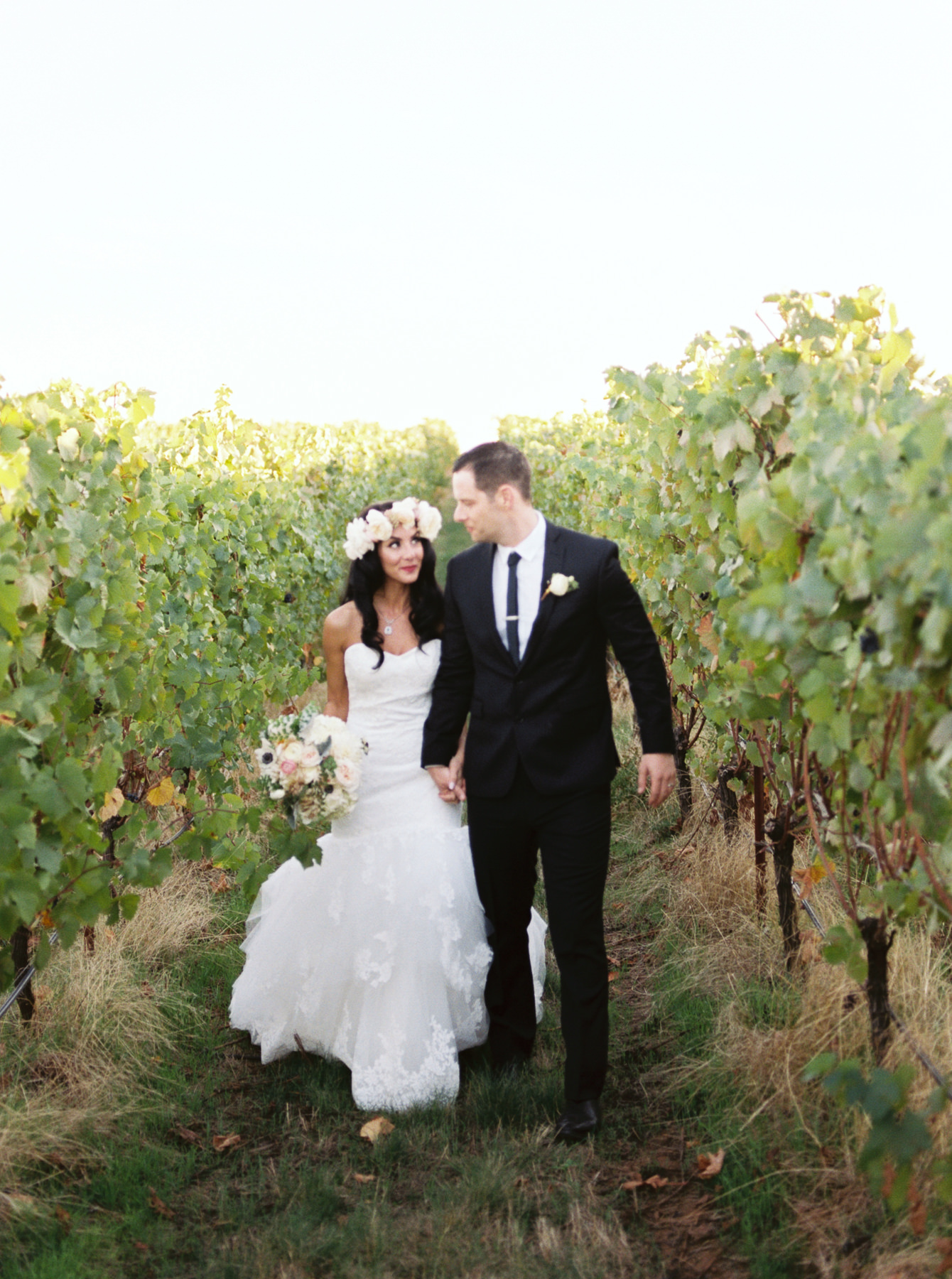 Vineyard Wedding Bride and Groom