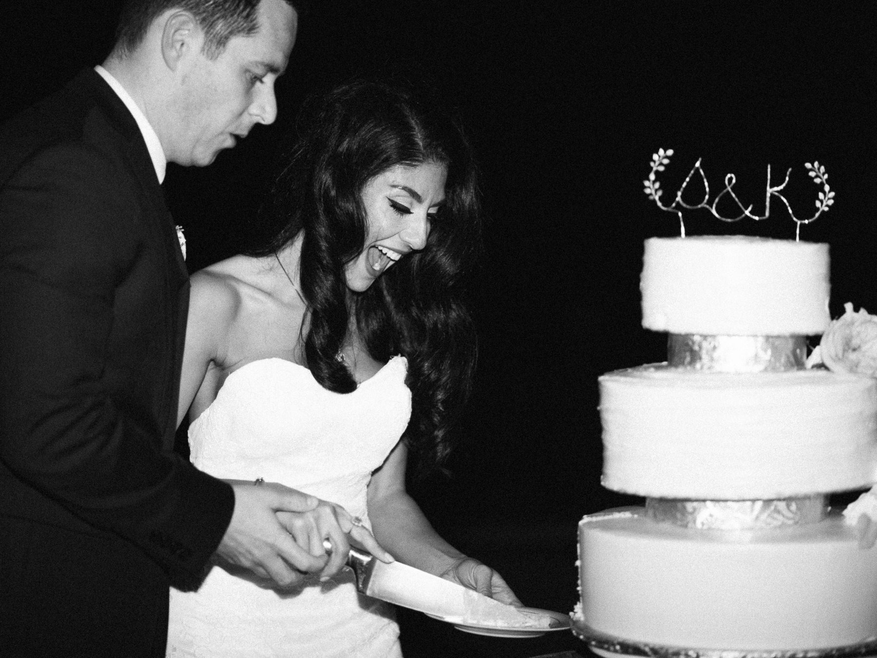 Cake cutting in Black and White