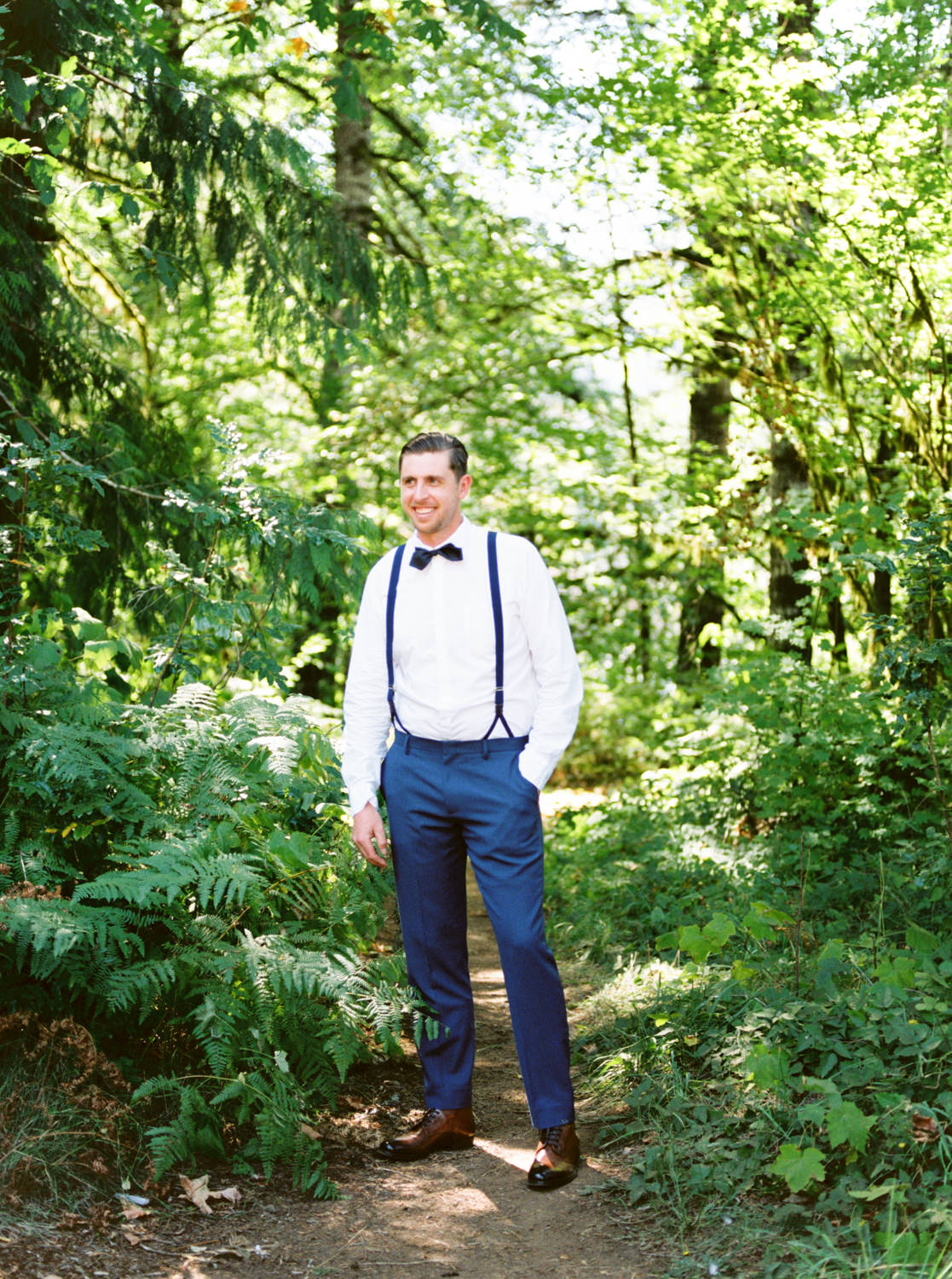 Groom in forest