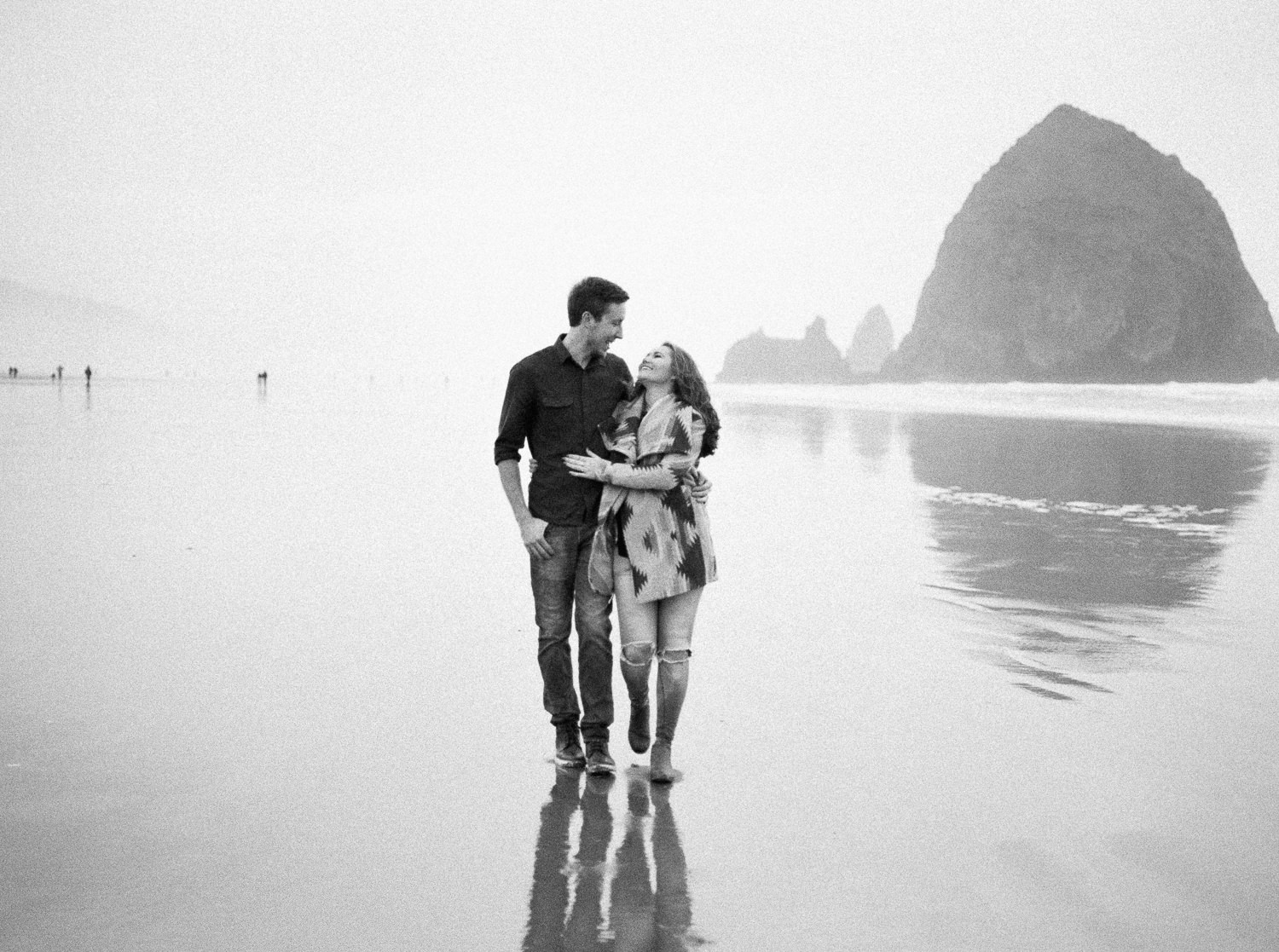 Couple at Cannon Beach Wedding Photography