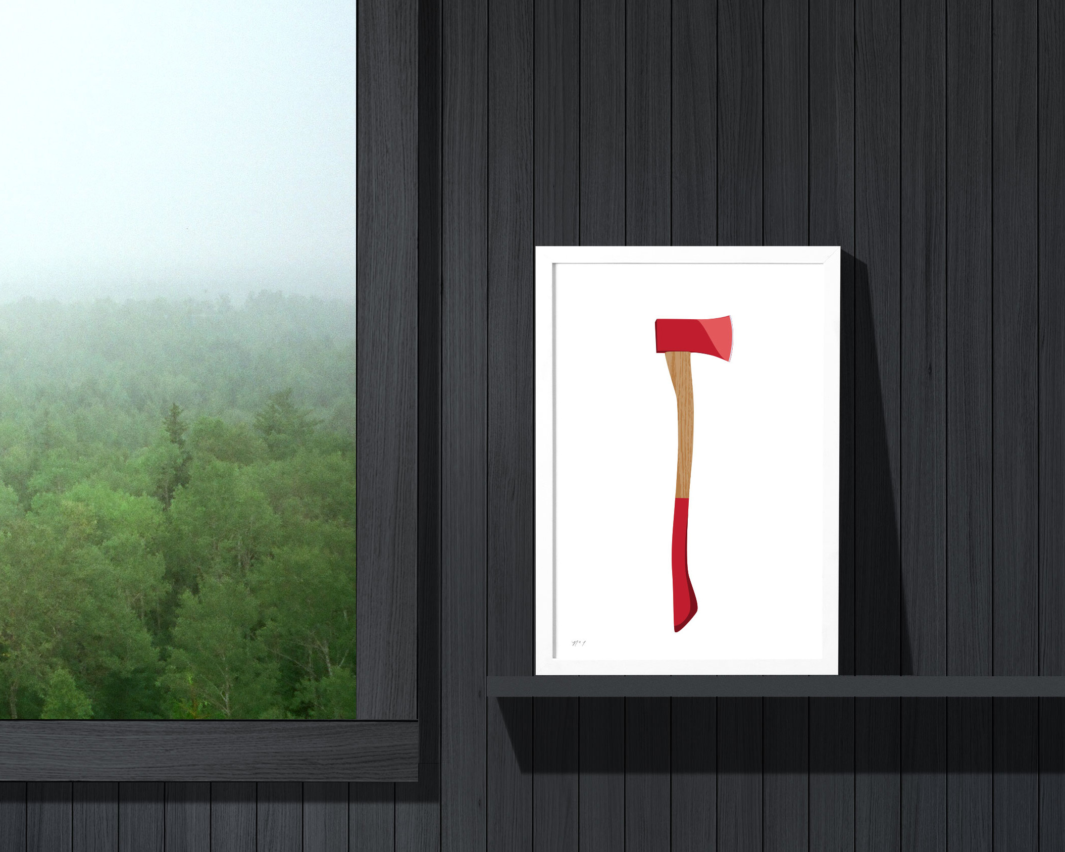Cabin and cottage art: our Axe print