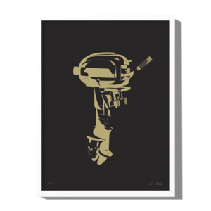 Outboard Motor Edition A Art Print — Roo Kee Roo: Art Prints, Apparel, Gear  & Greeting Cards