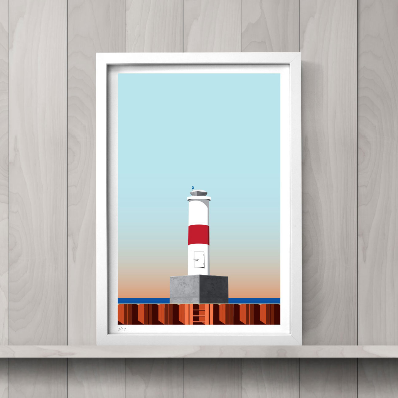 The Petoskey Lighthouse   art print is an hand-numbered open edition run.