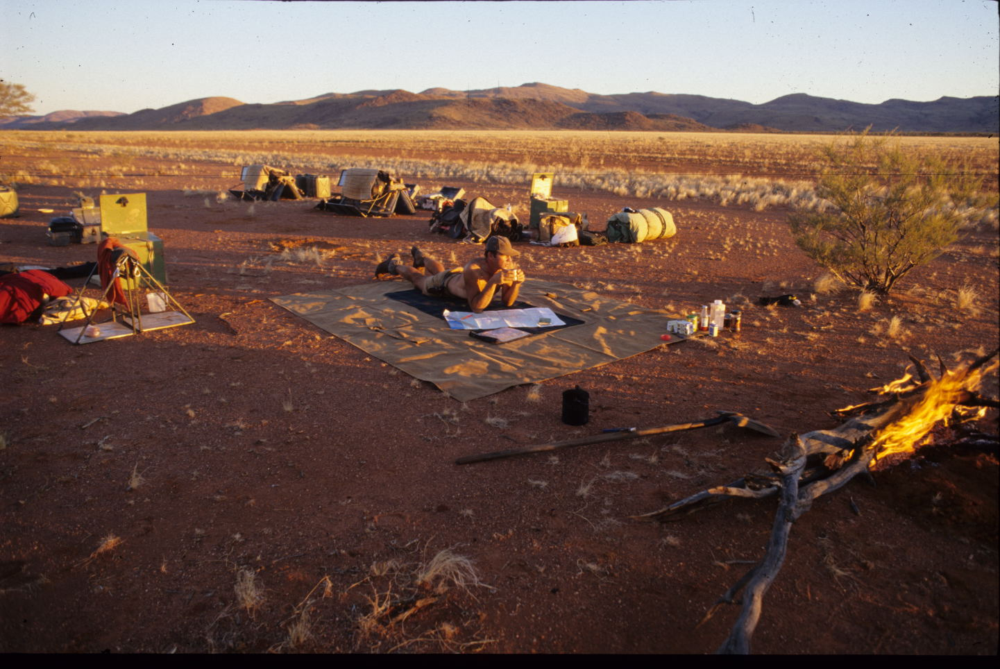 Afternoon cuppa, West MacDonnell Ranges, NT.