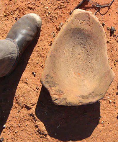 Aboriginal grinding stone.