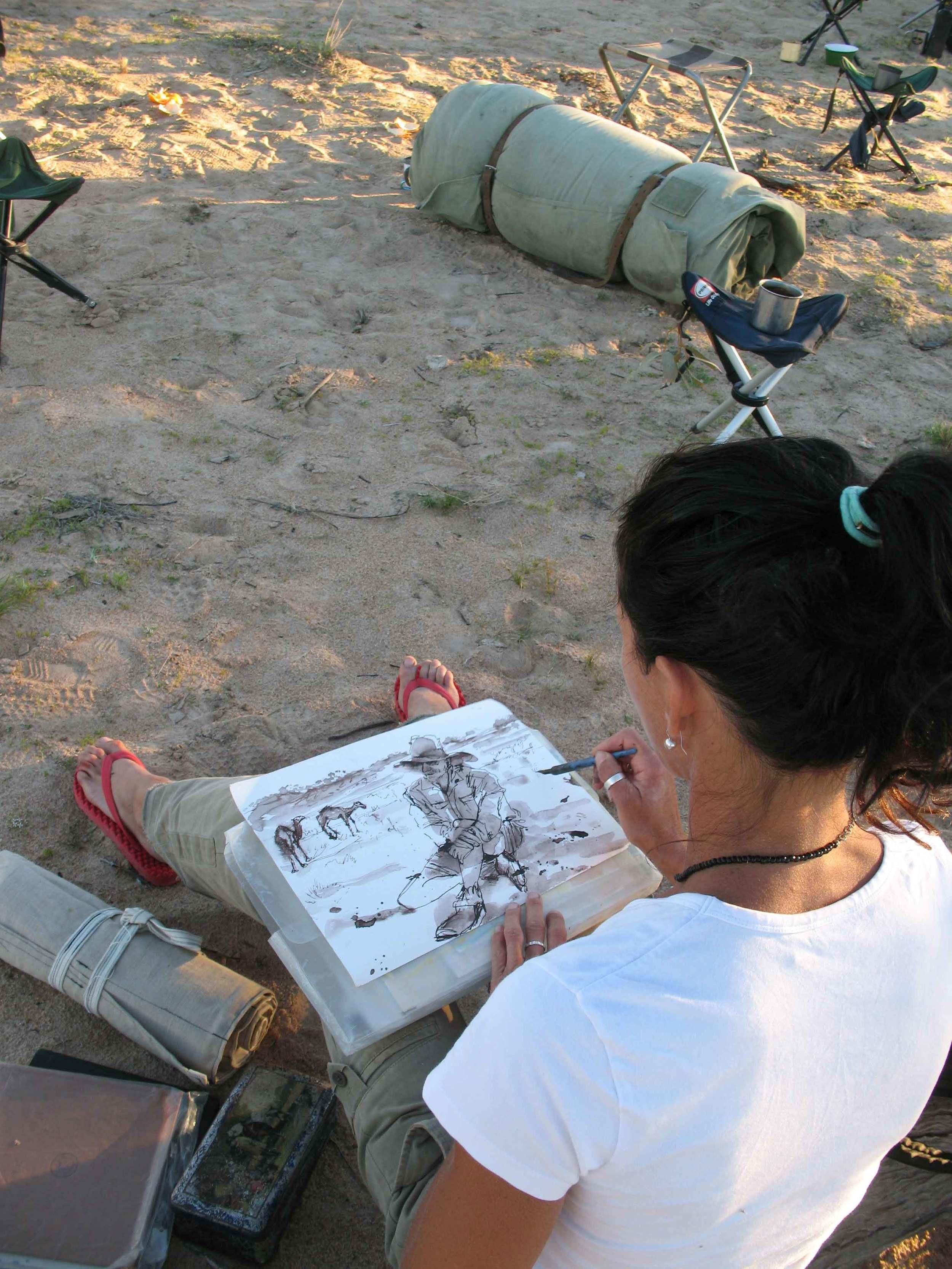 Expedition artist Jo Bertini.